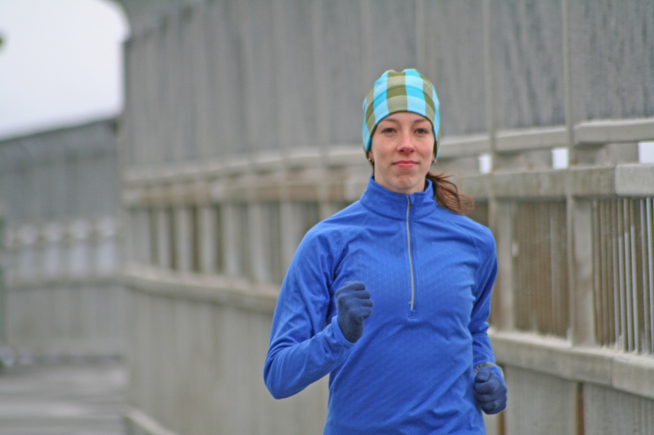 Runner on Halifax's MacDonald Bridge