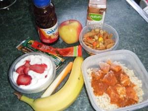 Marathon runner's high calorie, high protein lunch