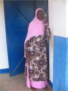 a young Muslim girl at school in The Gambia