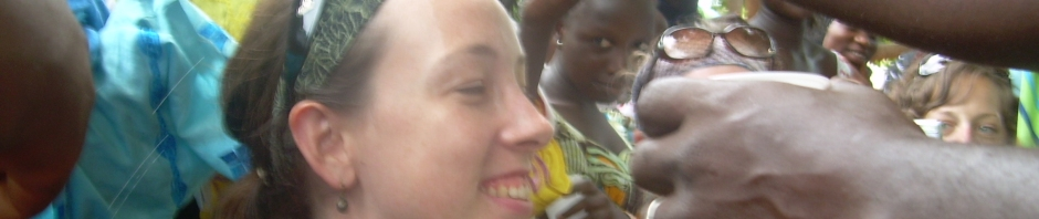a canadian girl participating in a Muslim Naming Ceremony in The Gambia