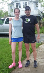 runners Erin Poirier and Ray Zahab