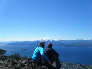 a honeymooning couple in Patagonia, Argentina
