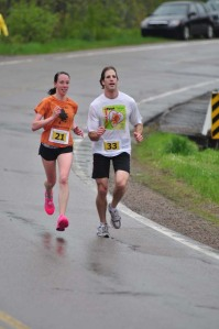 Runners on leg 1 of the Cabot Trail Relay