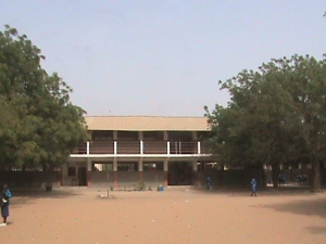 an elementary school in The Gambia