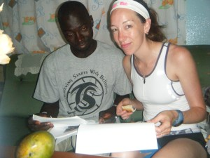 a Canadian and an African runner read a running mantra
