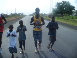 Gambian runner Kebba Suso