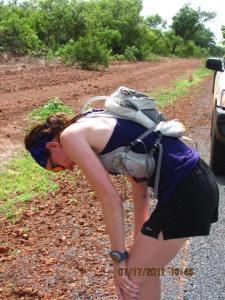 Runner in Africa gets sick