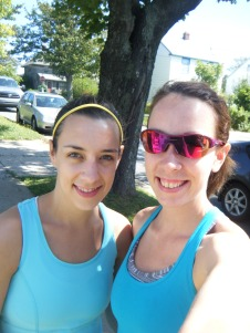 2 sisters going running