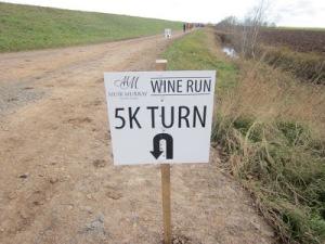 5km turnaround in Muir Murray Wine Run race