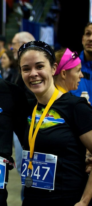 Blue Nose Marathon runner Debbie Martin