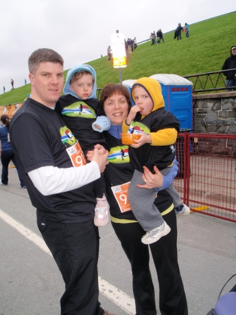 Strome family walks for NSGA at the 2011 Blue Nose Marathon