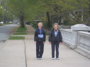 a walker in the Blue Nose Half Marathon