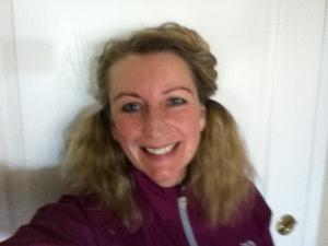 Team Love4Gambia Blue Nose Marathon Runner Joanne Lamb