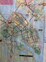 Wall map to mark all of the roads in Halifax I have ran - great motivation!
