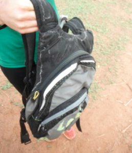 Proof of how sweaty and hot it is here - salt residue on the camelback after 2 days - bring on the gatorade!