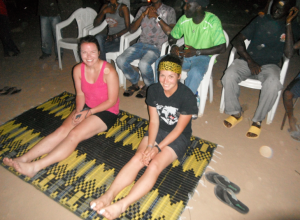 Sitting before we receive our Gambian names.  At this point, I have no idea what is happening/what to expect...