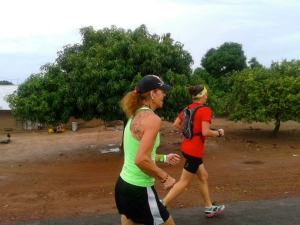 Running with my mother in The Gambia