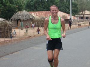 Mom running strong
