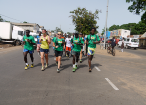All of us, finishing strong on the final day to Banjul