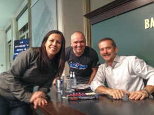 Gen and I meeting Col. Chris Hadfield.