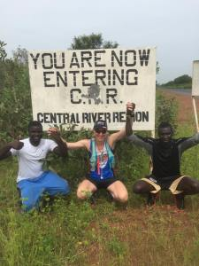 Entering the Central River Region, 100km done!